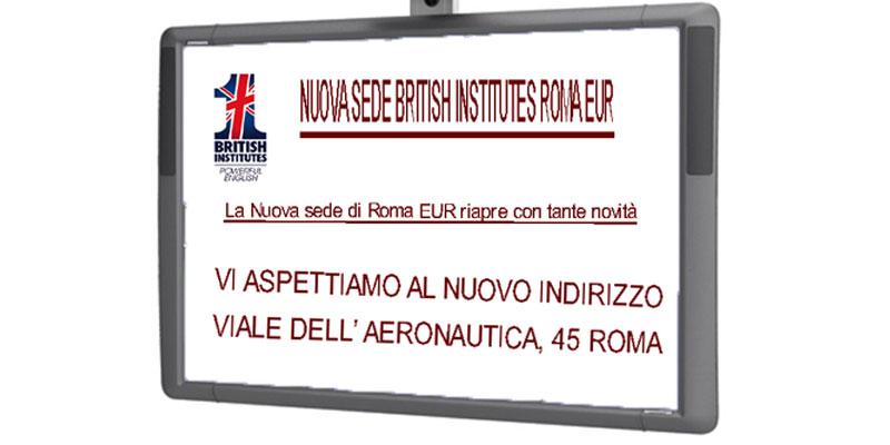 British Institutes Roma EUR apertura nuova sede